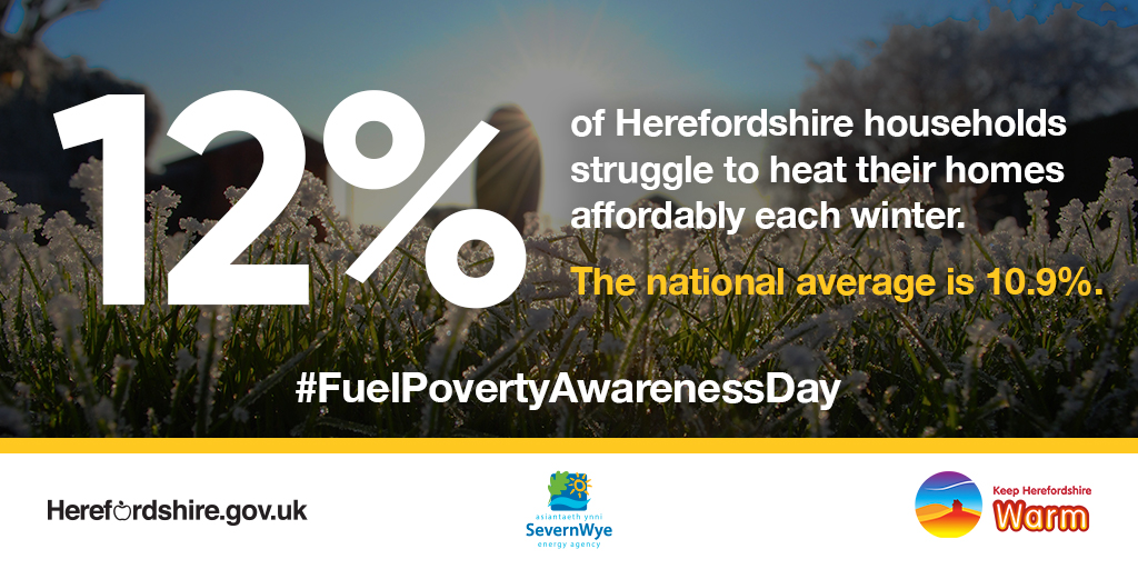 12% of Herefordshire residents are in fuel poverty